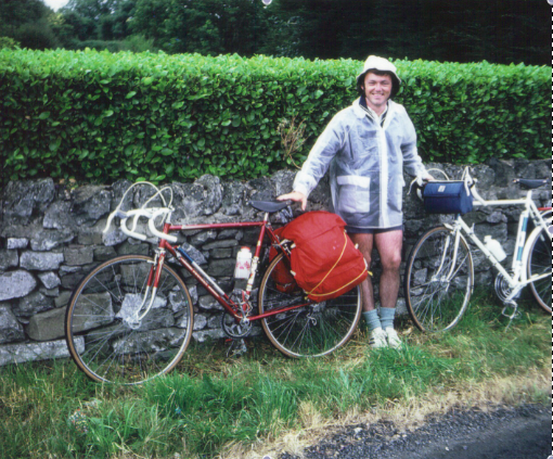 image of Marty Murphy on his 1973 cycling tour of Ireland