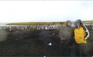 Mom and her friend with the penguins in the Falkland Islands, March 2012. One week before her diagnosis.
