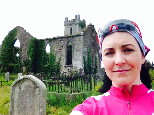 image of Megan Murphy on her 2014 cycling tour of Ireland