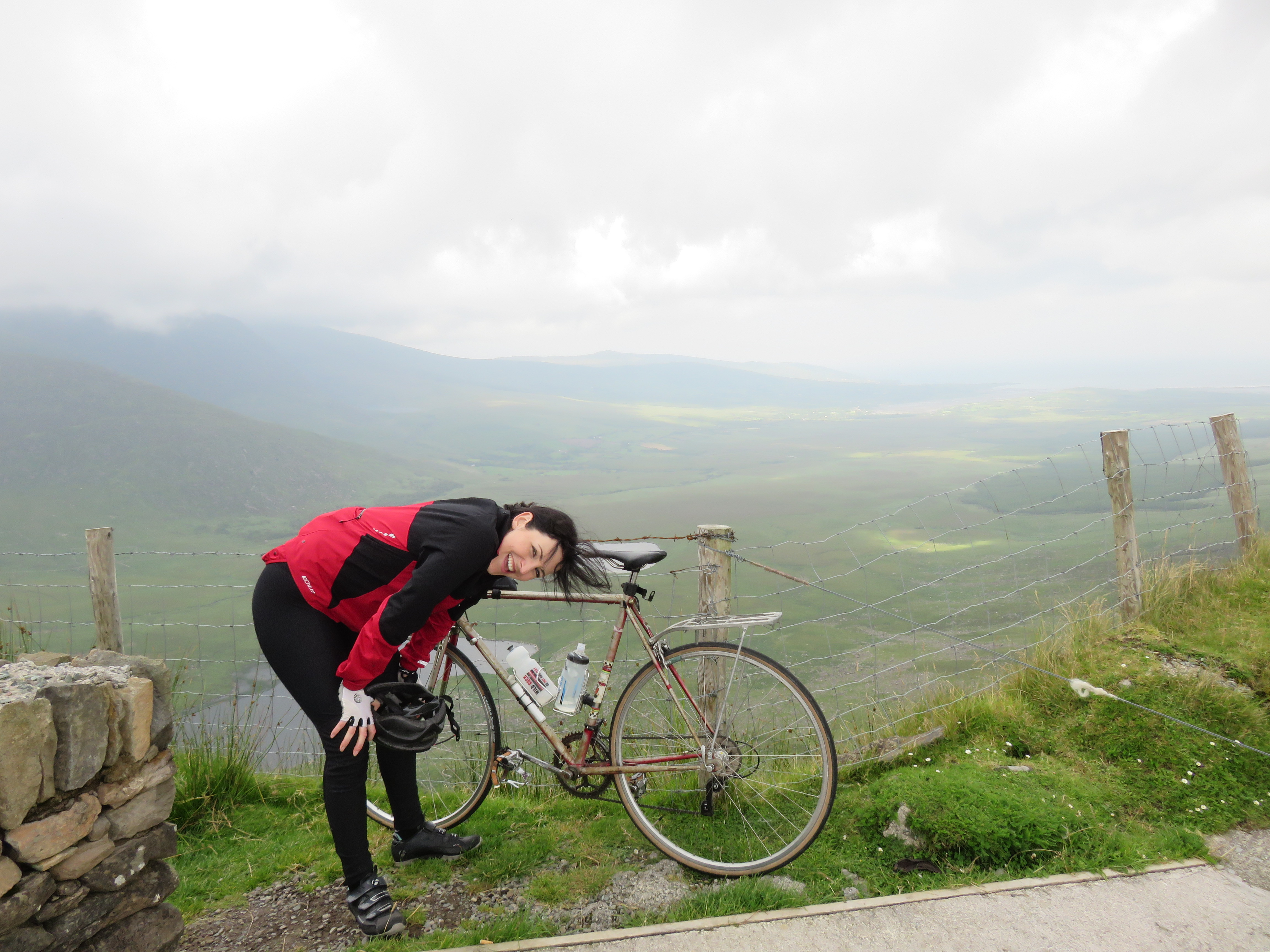 image of Megan Murphy catching some breath after a long climb
