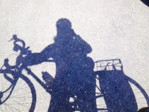 meg and bike shadow