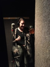 We hid Kate away in a doorway to record her vocals!