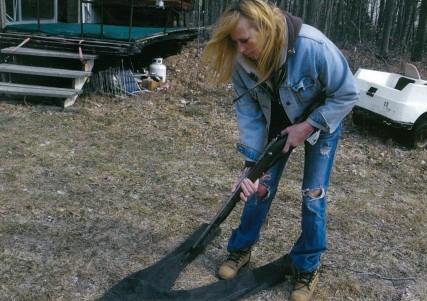 Thunderbunny making my jeans!
