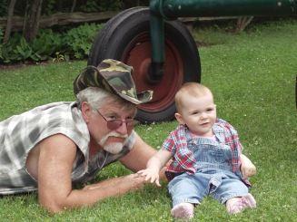 Sam and his beautiful granddaughter